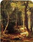 pool in the woods by jasper francis cropsey painting