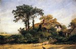 jasper francis cropsey the cottage of the dairyman s daughter print