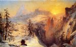 winter in switzerland by jasper francis cropsey Painting
