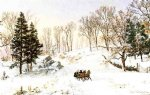 winter on rivensdale road hastings by jasper francis cropsey painting