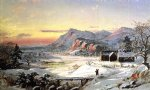 winter scene north conway new hampshire by jasper francis cropsey painting