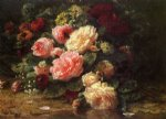 jean baptiste robie floral still life oil painting