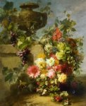 jean baptiste robie still life of roses morning glories chrysanthemums forget painting 31292