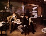 at the bistro by jean beraud painting
