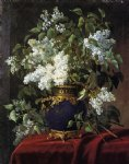 white lilacs by jean capeinick painting