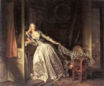the stolen kiss by jean fragonard painting