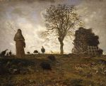 jean francois millet autumn landscape with a flock of turkeys painting 77100