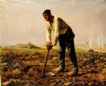 jean francois millet man with a hoe painting