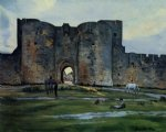 queens gate at aigues by jean frederic bazille painting