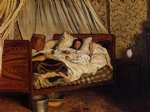 the improvised field hospital by jean frederic bazille painting