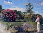 the little gardener by jean frederic bazille painting