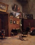 the studio on the rue de furstenberg by jean frederic bazille painting