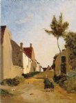 village street by jean frederic bazille painting