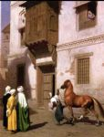 horse paintings - jean leon gerome horse merchant in cairo by jean-leon gerome