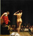 jean leon gerome selling slaves in rome painting