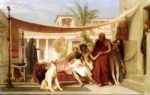jean leon gerome socrates seeking alcibiades in the house of aspasia painting