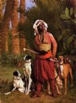 jean leon gerome the negro master of the hounds painting