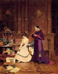 the reprimand by jehan georges vibert painting