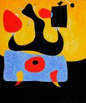 femme assise by joan miro painting