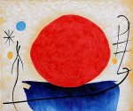 joan miro the red sun painting