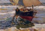 joaquin sorolla y bastida beaching the boat painting