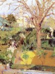 joaquin sorolla y bastida gardens of the alc�zar of seville in wintertime painting