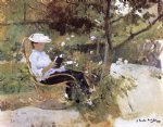 joaquin sorolla y bastida in the garden painting
