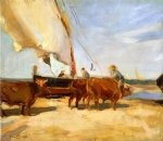 joaquin sorolla y bastida on the beach at valencia painting 31164