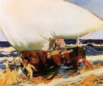 joaquin sorolla y bastida on the beach valencia painting 31217
