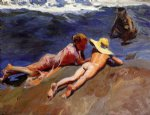 joaquin sorolla y bastida on the sand valencia beach painting 31165