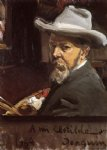 portrait paintings - self portrait by joaquin sorolla y bastida