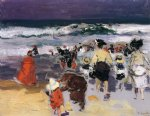 joaquin sorolla y bastida the beach at biarritz sketch painting 31182