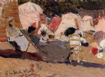 joaquin sorolla y bastida the beach at biarritz painting 31183