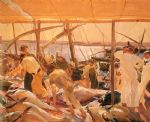 joaquin sorolla y bastida the tuna catch ayamonte painting