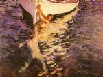 joaquin sorolla y bastida the white boat painting