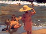 the young amphibians by joaquin sorolla y bastida painting