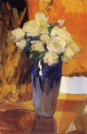 joaquin sorolla y bastida white roses from the house garden painting 31206