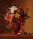 johan laurentz jensen still life with flowers in an earthenware vase painting 31119