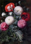 johan laurentz jensen still life with poppies and other flowers painting 31121