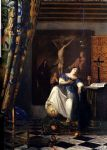 allegory of the faith by johannes vermeer painting