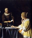 mistress and maid by johannes vermeer painting