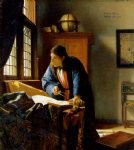 the geographer by johannes vermeer painting