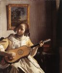 the guitar player by johannes vermeer painting