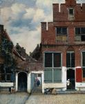 the little street by johannes vermeer painting
