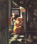johannes vermeer the love letter painting