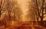 golden light by john atkinson grimshaw painting