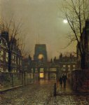 old chelsea by john atkinson grimshaw painting
