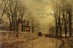 john atkinson grimshaw the turn of the road painting