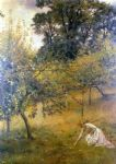 a devonshire orchard by john collier prints
