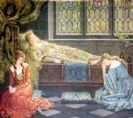 sleeping beauty by john collier painting